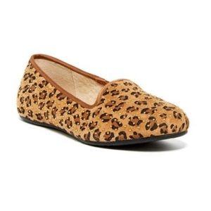 New Ugg Leopard 'alloway' Studded Flats Size 10